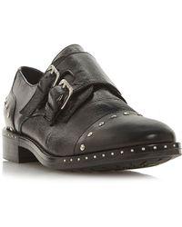 Dune - Gryffin Stud Detail Monk Strap Loafers - Lyst