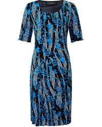 James Lakeland Printed Cut Pleat Dress - Blue