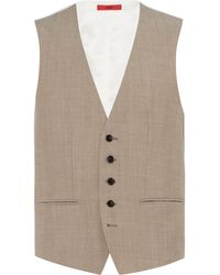 HUGO - Men's Vox Regular Fit Wool Three-piece Waistcoat - Lyst