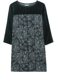 White Stuff Decadence Velvet Jersey Tunic - Green