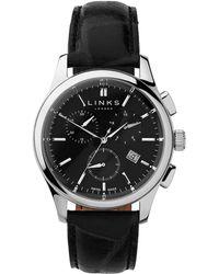 Links of London | Regent Black Dial Chronograph Watch | Lyst