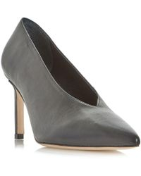 Dune Black - Amigos High Vamp Pointed Toe Court Shoes - Lyst