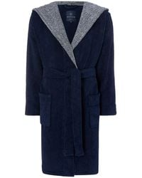 Howick Hooded Dressing Gown - Blue
