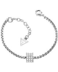 Guess | G Rounds Silver Bracelet | Lyst