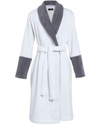BOSS Couture Cotton Bathrobe - White