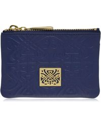 Biba - Embossed Dana Coin Leather Purse - Lyst