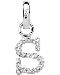 Links of London - Sterling Silver & Diamond S Alphabet Charm - Lyst