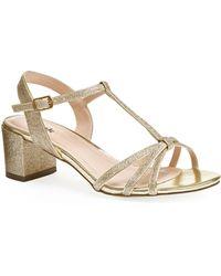 Paradox London Pink - Sadie Block Heel T-bar Sandals - Lyst