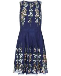 Yumi' - Mirror Embroidery Dress - Lyst