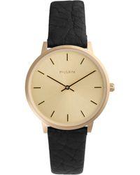 Pilgrim - Gold Simple & Minimalist Watch - Lyst