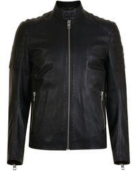 BOSS Jaysee Leather Jacket - Black