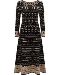 James Lakeland Jacquard Knitted Midi Dress - Black