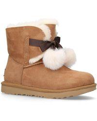 UGG Gita Pom Pom Kids Boots - Brown