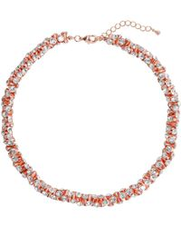 Mikey | Cubic Dumbell Beads Linked Necklace | Lyst