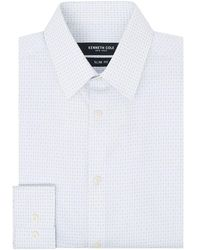 Kenneth Cole Scotts Cross Dobby Shirt - White