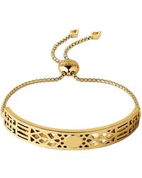 Links of London - Timeless 18kt Yellow Gold Vermeil Toggle Bracelet - Lyst