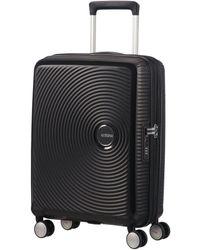 American Tourister Soundbox Bass Midnight Navy Hard Cabin Spinner - Black