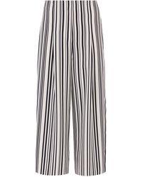 Warehouse Stripe Soft Pleat Culottes - Blue