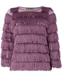 Biba Fringes Shell Top - Purple