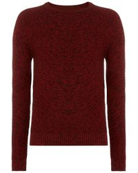 Label Lab Label Hulme Twisted Cotton Jumper - Red