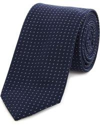 Kenneth Cole - Hilton Micro Spot Silk Tie - Lyst