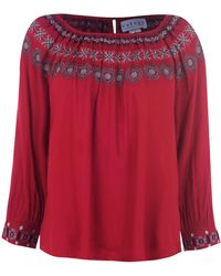 Velvet Nove Top - Red