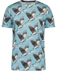Ted Baker - Bird Print Cotton T-shirt - Lyst