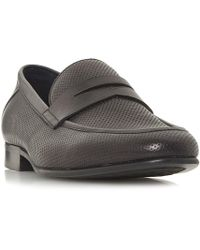 Dune - Palazzo Perforated Penny Loafers - Lyst