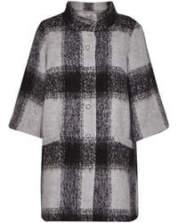 Great Plains | Lowery Check Bell Sleeves Swing Coat | Lyst