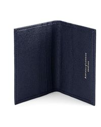 Aspinal of London Double Credit Card Case - Blue