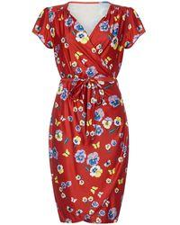 Yumi' - Pansy Print Wrap Dress - Lyst