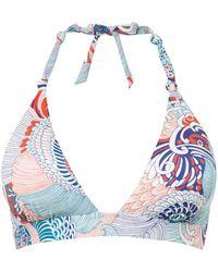 Huit | Removable Foam Triangle Bikini Top | Lyst