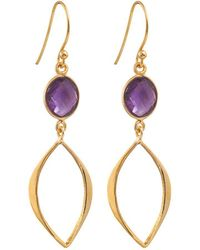 Juvi Designs - Gold Vermeil Boho Cat Eye Earrings - Lyst