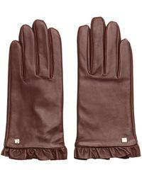 Lauren by Ralph Lauren Ruffle Gloves - Brown