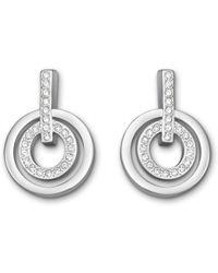 Swarovski - Circle Mini Pierced Earrings - Lyst
