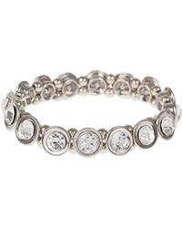 Mikey - Round Cased Cubic Stones Bracelet - Lyst