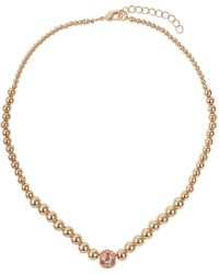 Mikey   Large Crystals Ball Metal Chain Necklace   Lyst