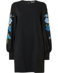 Sportmax Code | Unione Embellished Floral Sleeve Jumper Dress | Lyst