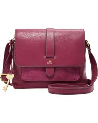 Fossil - Fiona Leather Crossbody Bag - Lyst