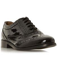 Dune Florrence Crystal Welt Lace Up Shoes - Black