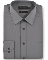 Double Two - King Size Classic Plain Long-sleeve Shirt - Lyst