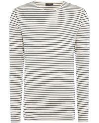 Minimum - Striped Crew Neck T-shirt - Lyst