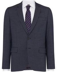 PS by Paul Smith Textured Notch Collar Two-piece Suit Jacket - Gray