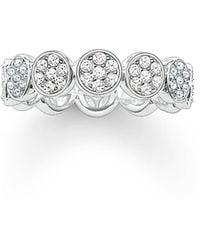 Thomas Sabo - Sparkling Circles Round Pave Set Ring - Lyst