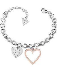 Guess - Heart In Heart Bracelet - Lyst