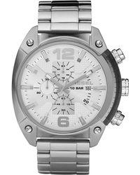 DIESEL - Stainless Steel Overflow Bracelet Watch - Lyst
