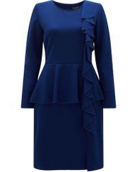 James Lakeland - Ruffle Peplum Dress - Lyst