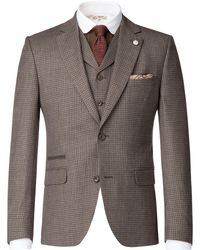 Gibson - Men's Taupe Brushed Check Jacket - Lyst
