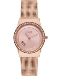 Storm - Cyro Crystal Rose Gold Watch - Lyst