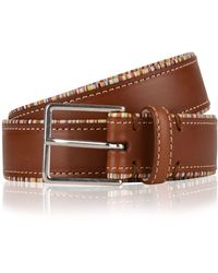 Paul Smith Striped Trim Belt - Brown